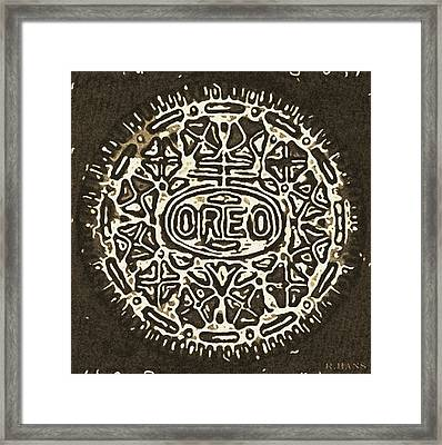Black Sepia Oreo Framed Print by Rob Hans
