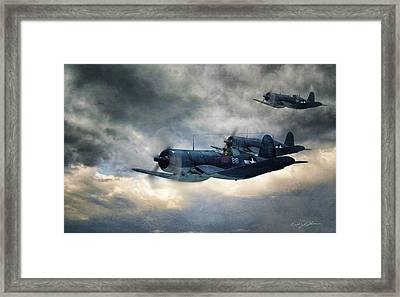 Black Sheep Patrol Framed Print by Peter Chilelli