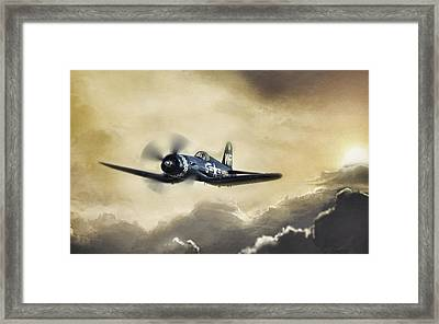 Sunlit Corsair Framed Print by Peter Chilelli