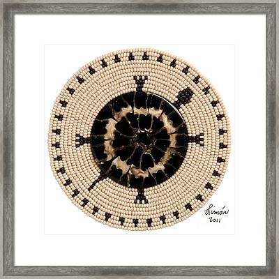 Black Shell Framed Print
