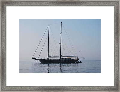 Black Ship 1 Framed Print by George Katechis