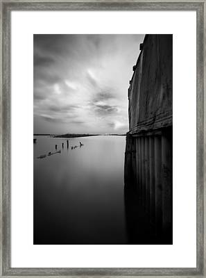 Black Silk Framed Print