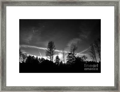 Black Sky Framed Print by Dariusz Gudowicz
