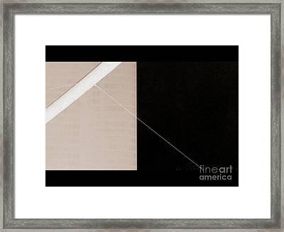 Black Slash Beige Framed Print by A K Dayton