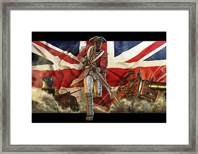 Black Slave Fighting For The British Framed Print