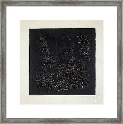 Black Square Framed Print