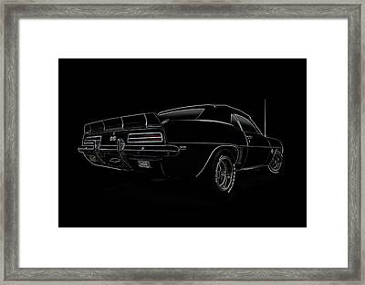 Black Ss Line Art Framed Print by Douglas Pittman