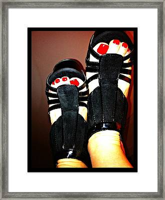 Black Suede Shoes Framed Print by Art by Dance
