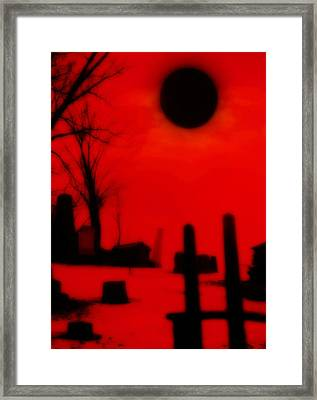 Black Sun Framed Print by Gothicrow Images