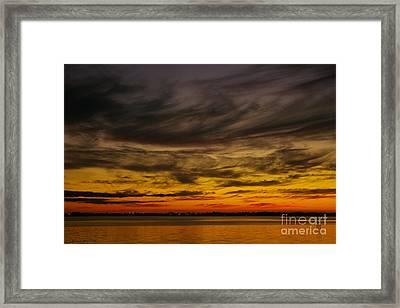 Black Sunset Framed Print