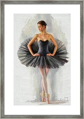 Black Swan Framed Print by Serguei Zlenko