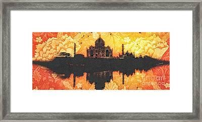 Black Taj Mahal Framed Print by Mo T