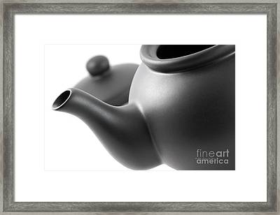 Black Teapot Framed Print