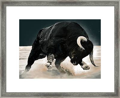 Black Thunder Framed Print
