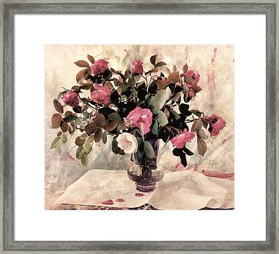 Black Tie Roses Framed Print by Bernie  Lee