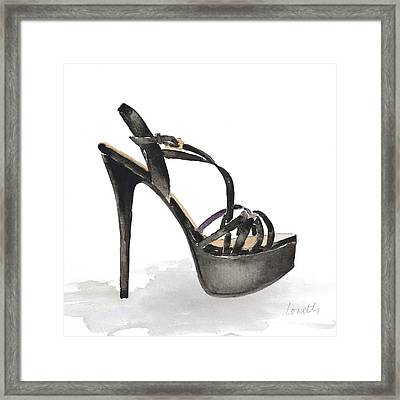 Black Tie Stiletto Framed Print by Lanie Loreth