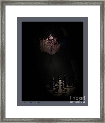 Black To Move Framed Print by Pedro L Gili