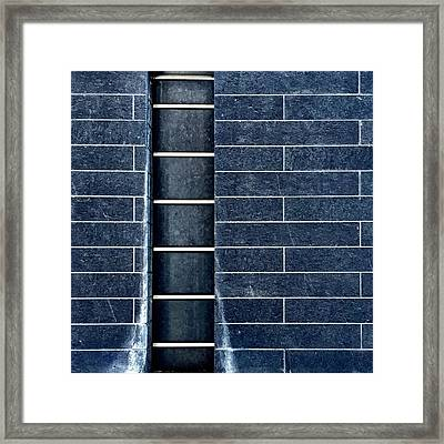 Black Wall Framed Print by Julie Gebhardt