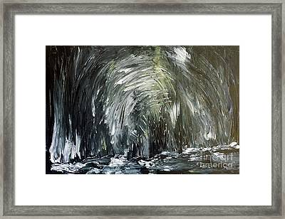 Black Water Cave Framed Print