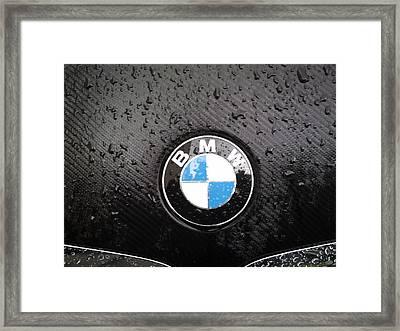 black - wet - BMW Framed Print