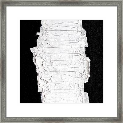 Black White And White Framed Print by Rob Van Heertum