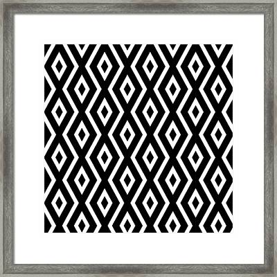 Black And White Pattern Framed Print by Christina Rollo