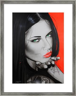 Adriana Lima - ' Black Widow ' Framed Print by Christian Chapman Art
