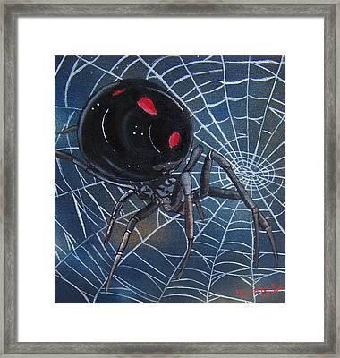 Black Widow Framed Print by Debbie LaFrance