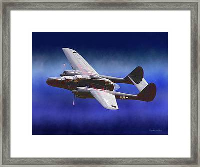 Black Widow Framed Print by Douglas Castleman
