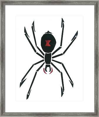 Black Widow Framed Print by Earl ContehMorgan