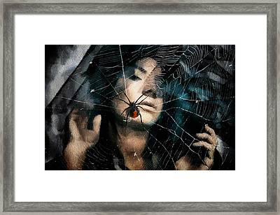 Black Widow Framed Print by Gun Legler