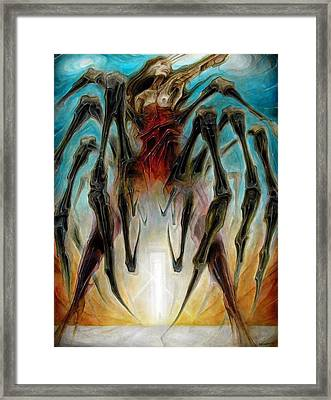 Black Widow Zombie Framed Print by Robert Anderson