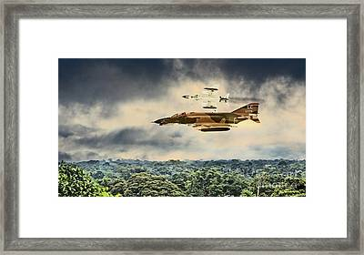Black Widows. F4 Phantom Framed Print