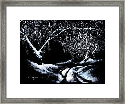 Framed Print featuring the painting Winter Lace by Jill Westbrook