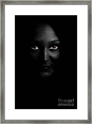 Black Woman Framed Print by Angelika Bentin