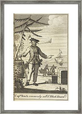 Blackbeard Framed Print by British Library