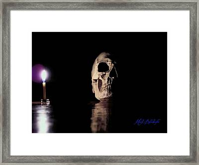 Framed Print featuring the photograph Blackbeard's Skull by Mark Blauhoefer