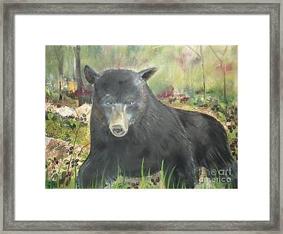 Framed Print featuring the painting Blackberry Scruffy 2 by Jan Dappen