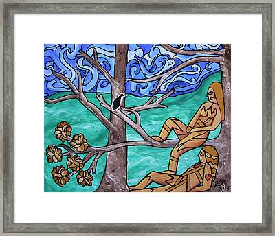 Blackbird Singing Framed Print by Barbara St Jean