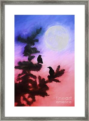 Blackbirds Of The Night Framed Print by Darren Fisher