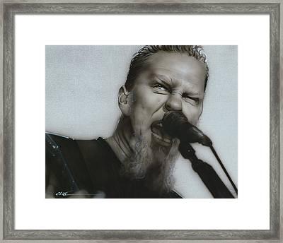 James Hetfield - ' Blackened ' Framed Print by Christian Chapman Art