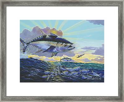 Blackfin Bust Off00116 Framed Print by Carey Chen