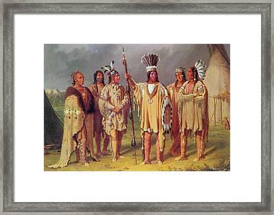 Blackfoot Chiefs, C1848 Framed Print by Granger