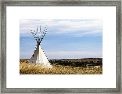 Framed Print featuring the photograph Blackfoot Teepee by Alyce Taylor