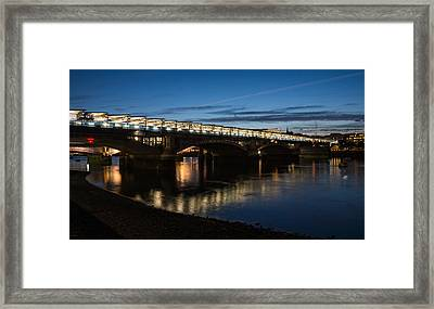 Framed Print featuring the photograph Blackfriars Bridge - London U K by Georgia Mizuleva
