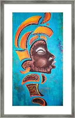 Blackgolden Queen Framed Print