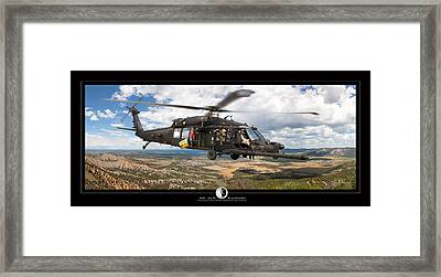 Blackhawk Helicopter Framed Print by Larry McManus
