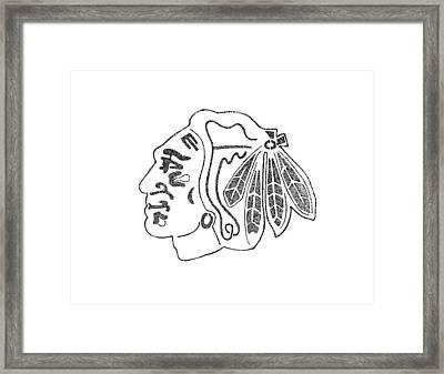 Blackhawk Logo Framed Print by Joe Rozek
