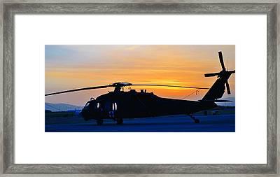 Blackhawk Sunrise Iv Framed Print by Joshua Burcham