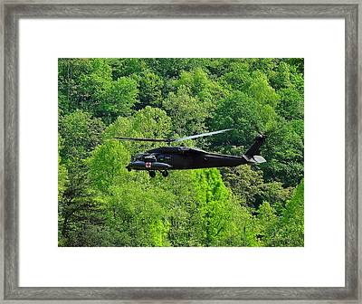 Blackhawk Taking Off Framed Print